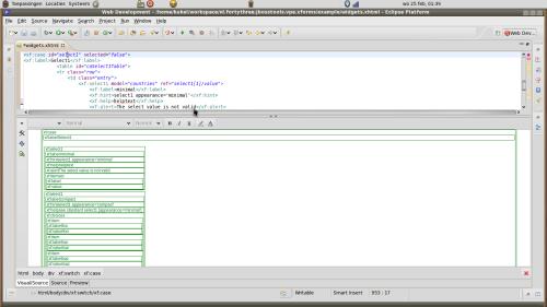 Opening an XForm in the plain JBoss html editor
