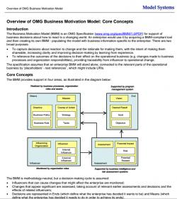 omg overview biz models