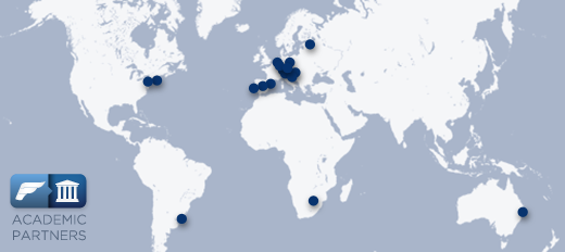 Map of our academic partners