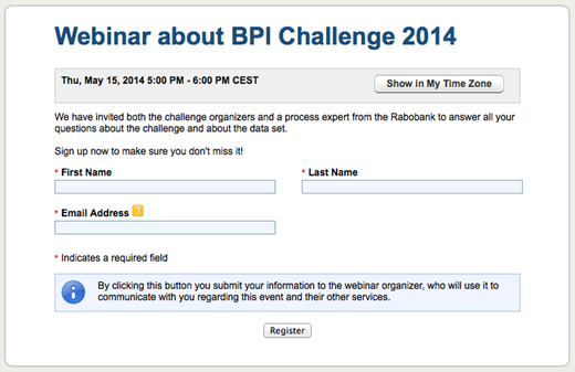 Join the BPI Challenge 2014 Webinar!