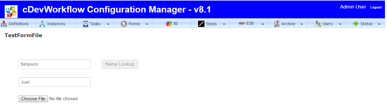 Form Instance Configuration Manager