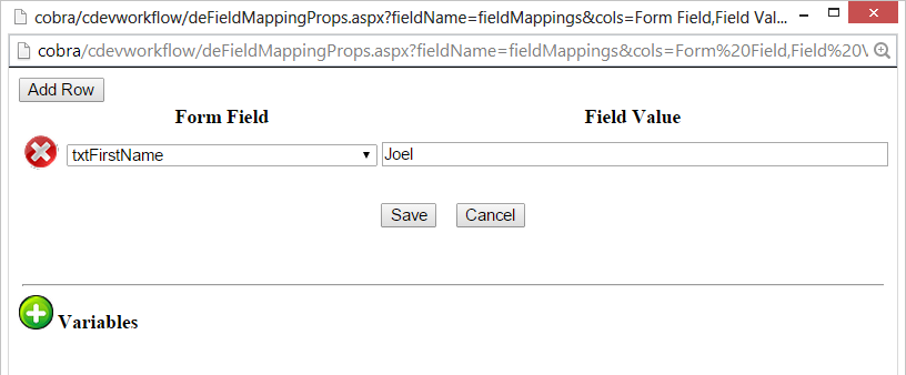 Form Instance Mapping