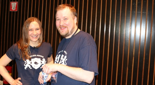 Anne and Christian at Process Mining Camp 2014