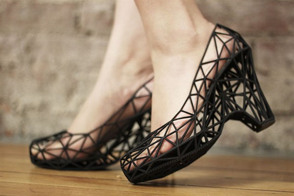 Wearable 3D Printed Shoes. Photographer Strvct