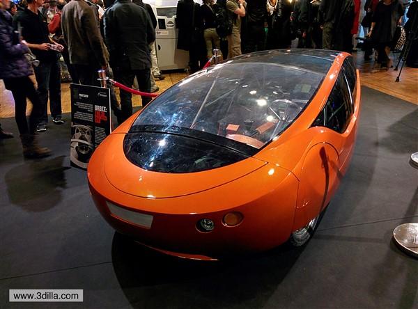 Urbee 3D printed car at 3d Print Show in Paris. Source http://www.3dilla.com