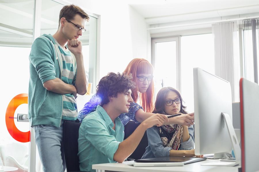 Creative business create workflow model