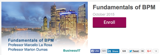 Sign up now for the MOOC Fundamentals of BPM