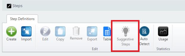 Suggestive Steps Workflow