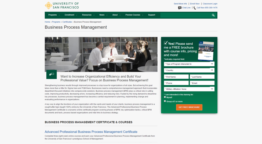 Business Process Management Training University Of San Francisco Online Bpi The Destination For Everything Process Related