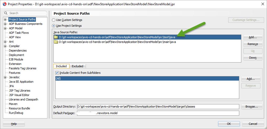 Define Source Folders
