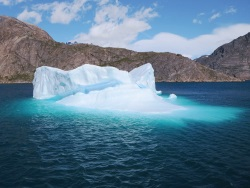 image of iceberg showing the massive hidden parts