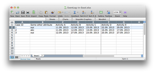 Event Log in Excel (click to enlarge)