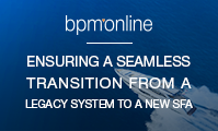 Ensuring a seamless transition from a legacy system to a new SFA solution