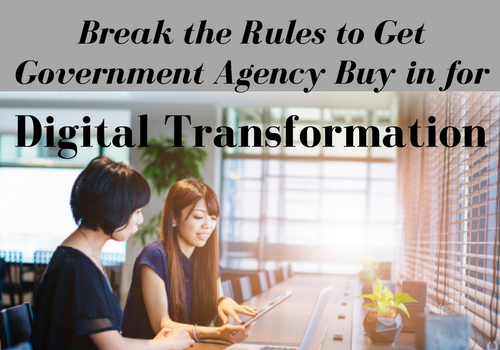 Break the Rulesto get Government Buy in for