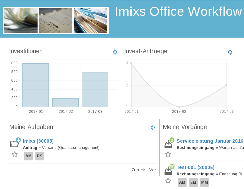 Imixs-Office-Workflow with Imixs-BPMN Report 1.4.6