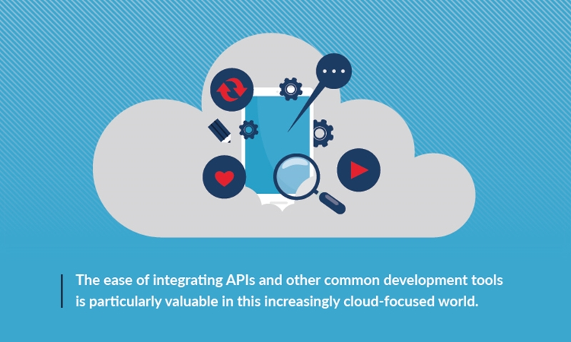 The ease of integrating APIs and other common development tools is particularly valuable in this increasingly cloud-focused world.