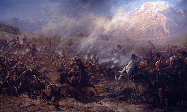 KGL dragoons at the Battle of Garcia Hernandez