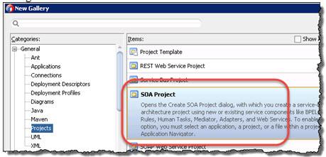 Create SOA Project