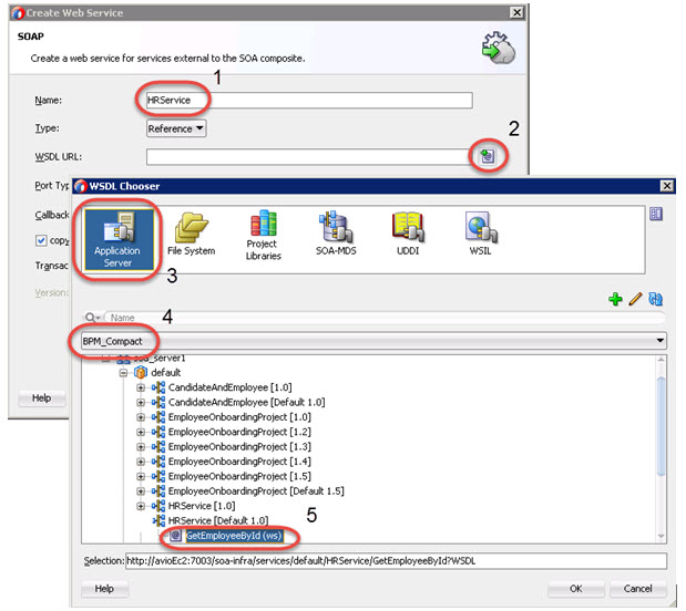 Define the HRService External Reference