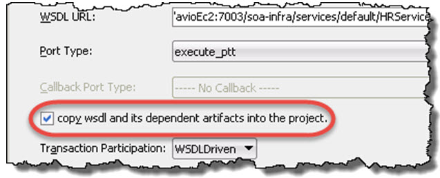 Copy wsdl and its dependent artifacts
