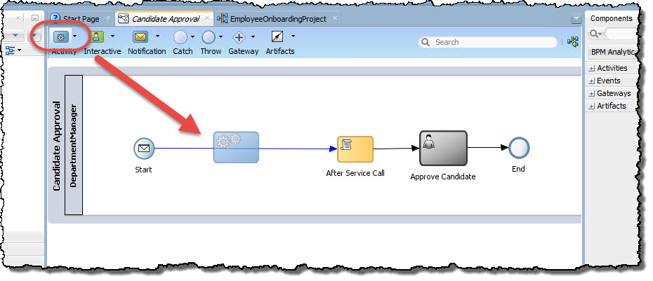 Add a Service Activity into the process