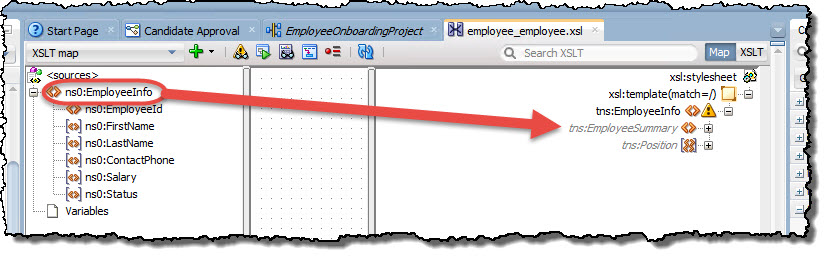 Map EmployeeInfo to EmployeeSummary