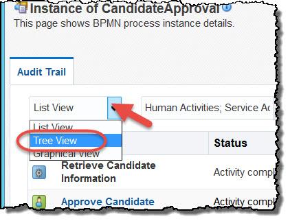 Tree view Audit Trail