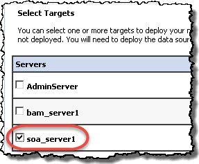 Select SOA as the target