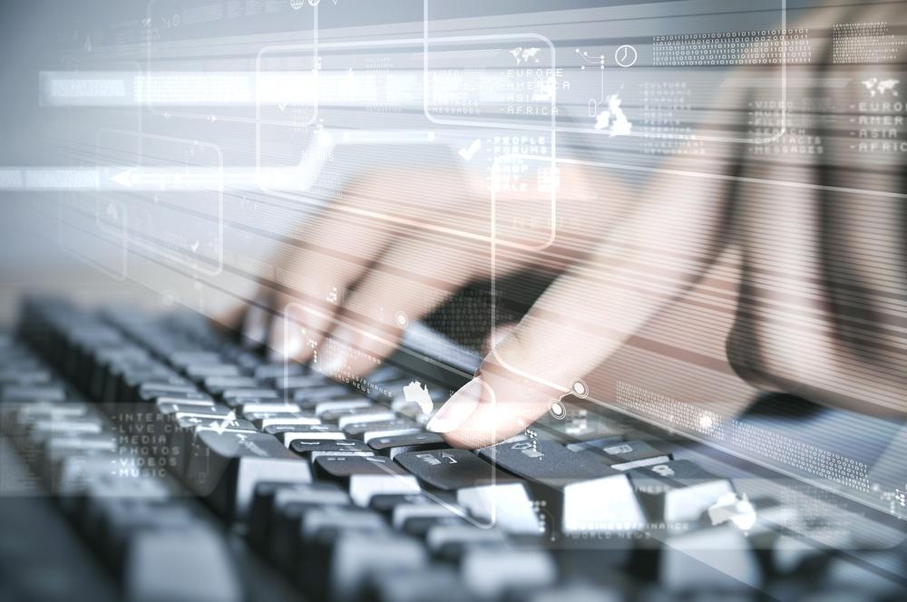 Computer keyboard and multiple social media images.jpeg