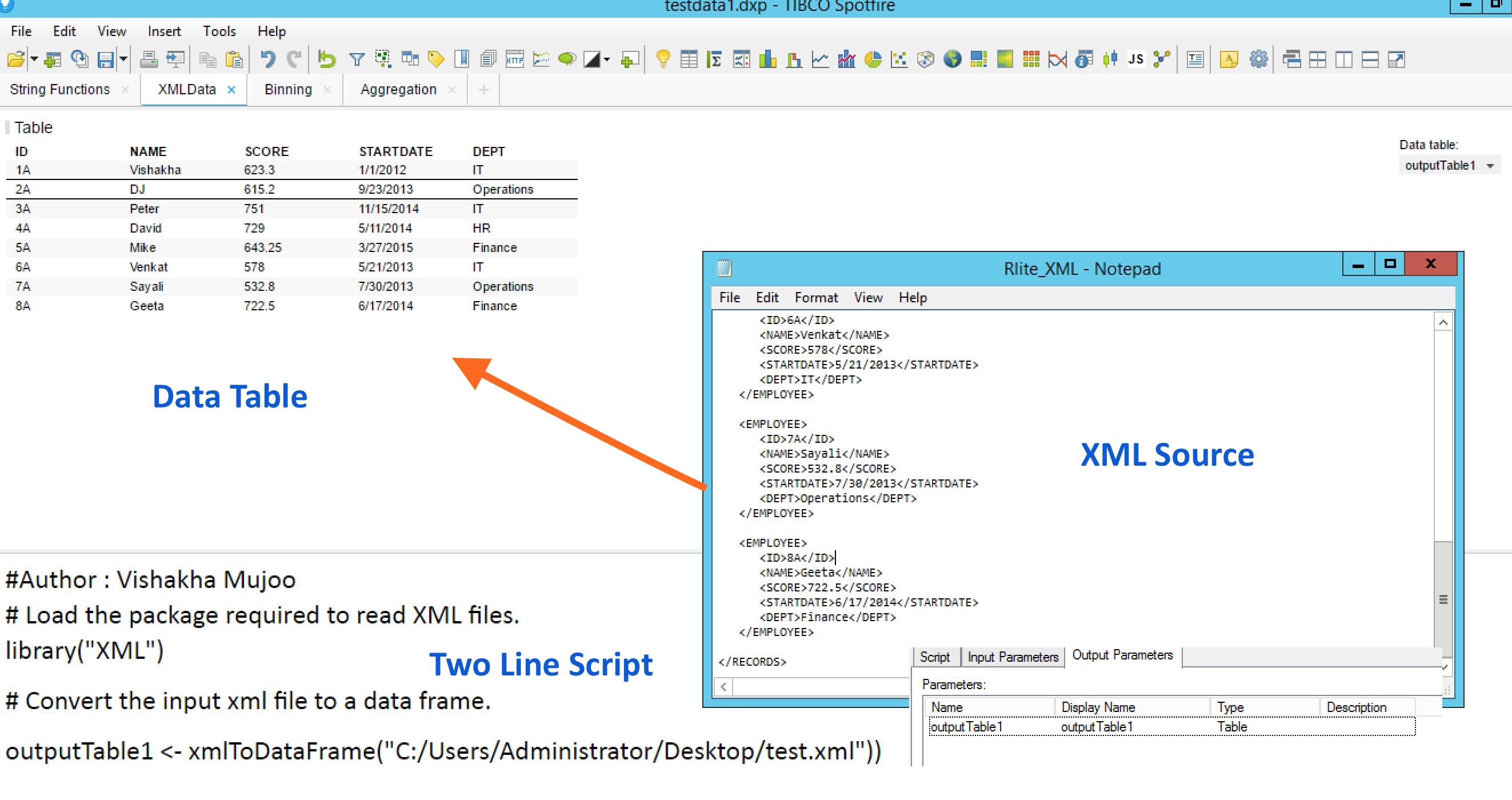 Loading XML Data into TIBCO Spotfire - BPI - The destination