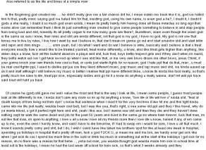 Reflective essay on writing process