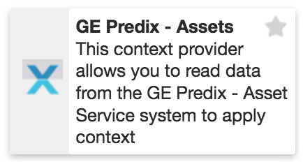 XMPro GE Predix Asset Context Provider
