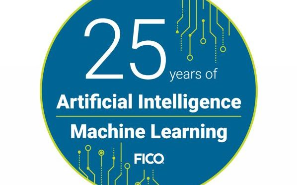 FICO 25 years of AI and machine learning logo