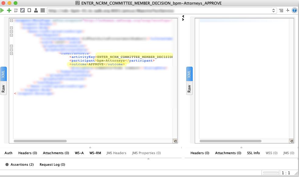 Screenshot of SOAPUI