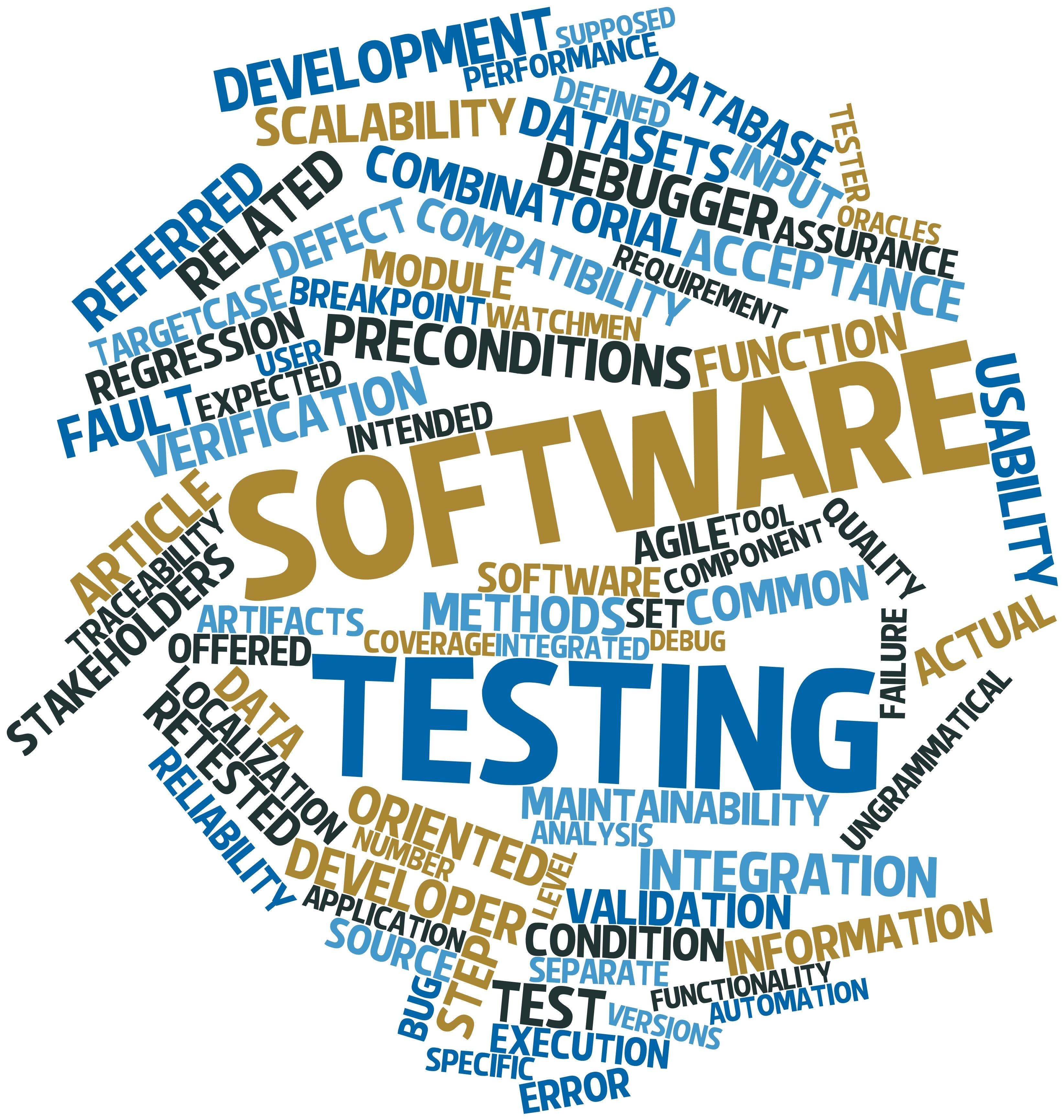 Software testing word mashup