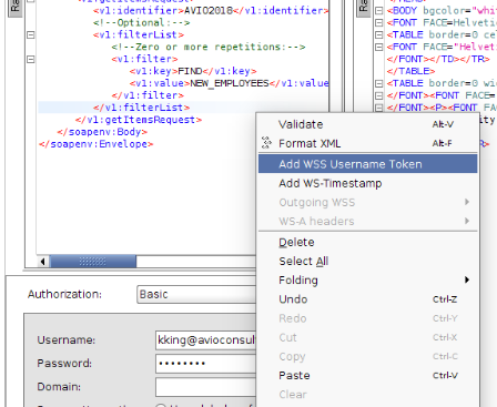 ICS - Add WSS Username