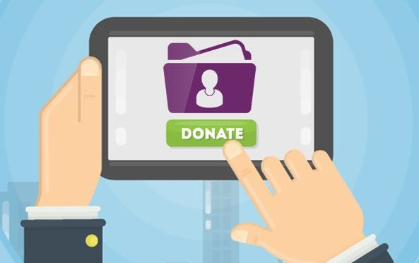 Donate screen with personal data