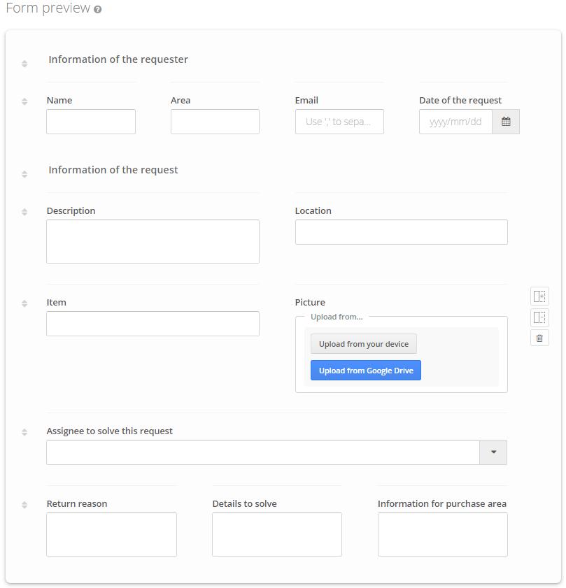 Maintenance Request Process Template - Process Form