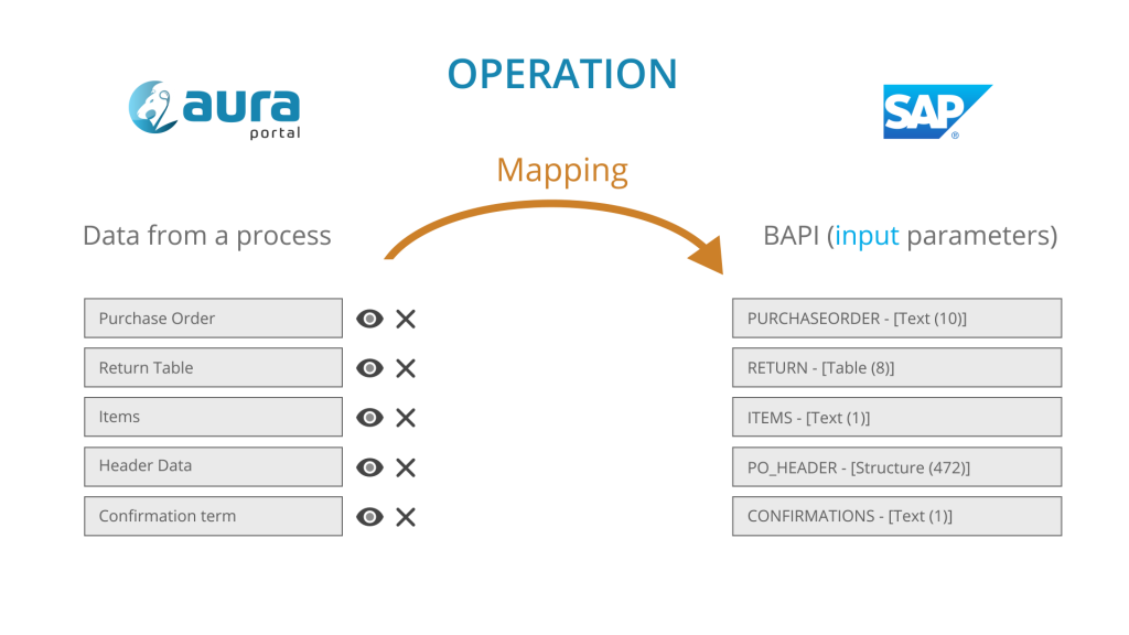 Mapping data from AuraPortal Process to SAP