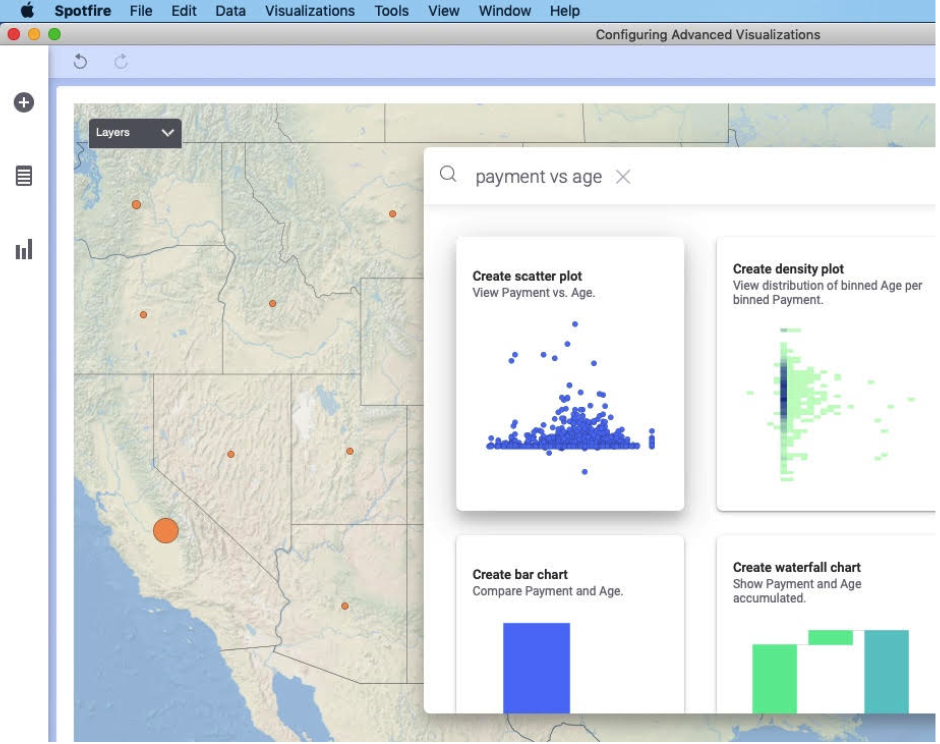 Search to create visualizations or find values in your data