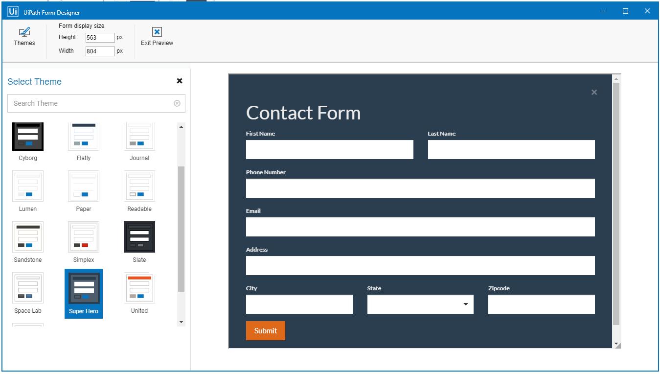 form designer upath 2019 lts release