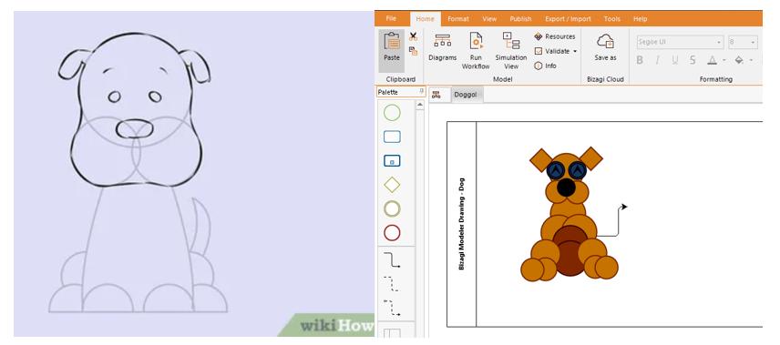 Bizagi Modeler Drawing Dog