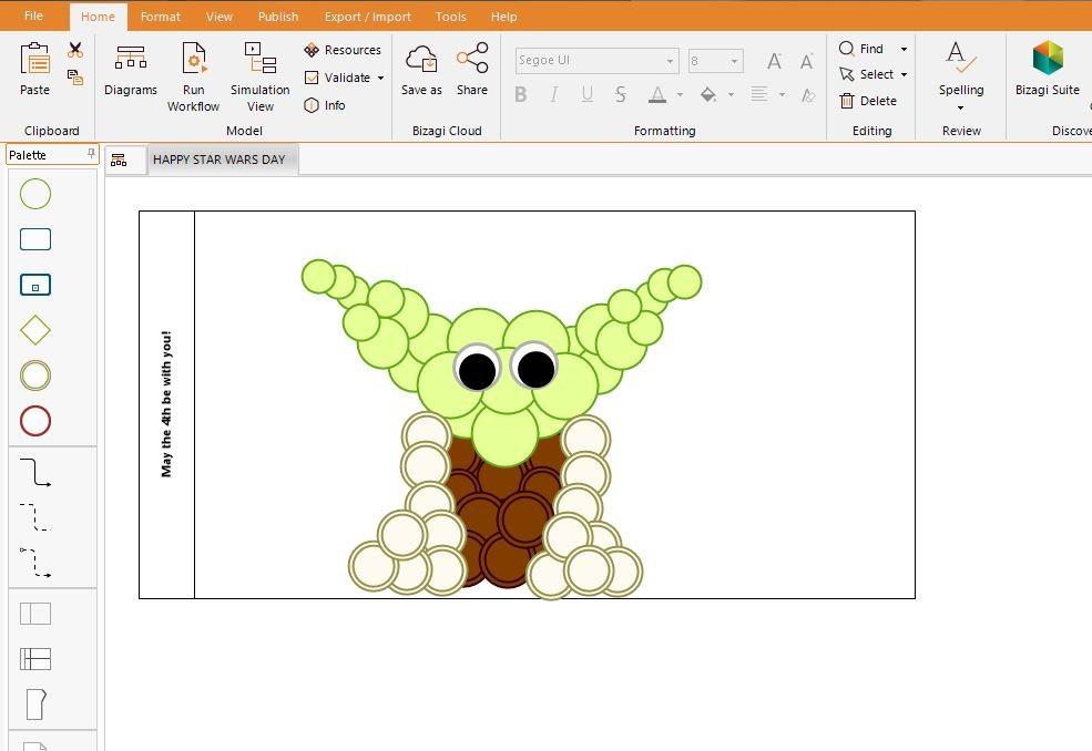 Bizagi Modeler Drawing Yoda