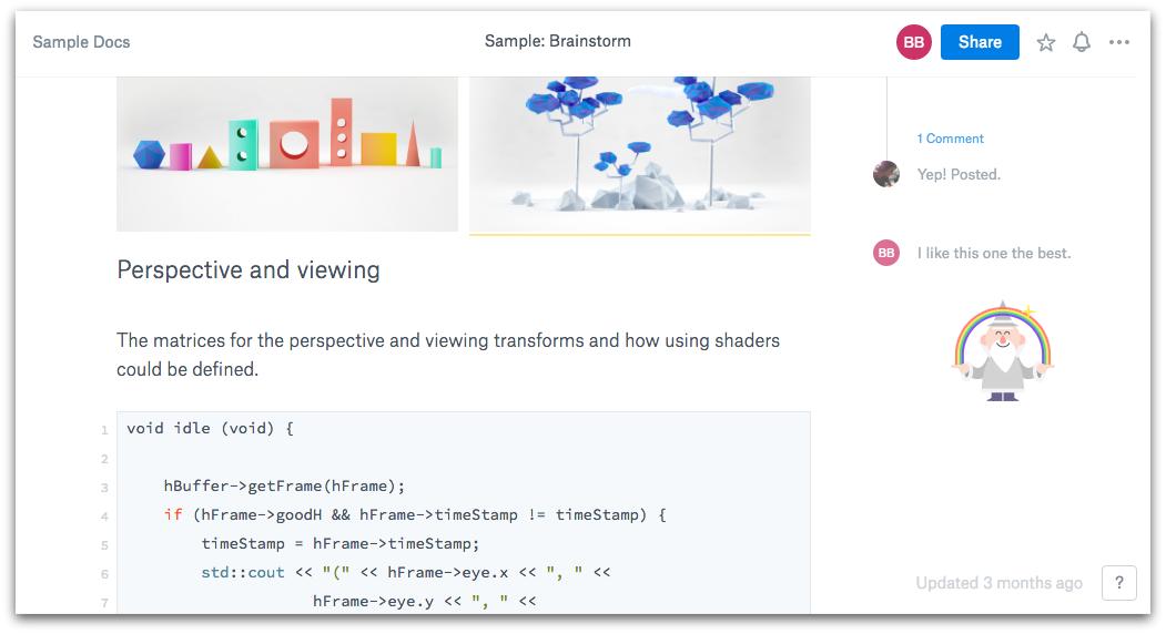 Dropbox Paper Software Documentation