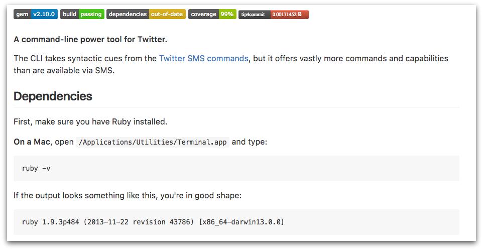 GitHub Software Documentation for t