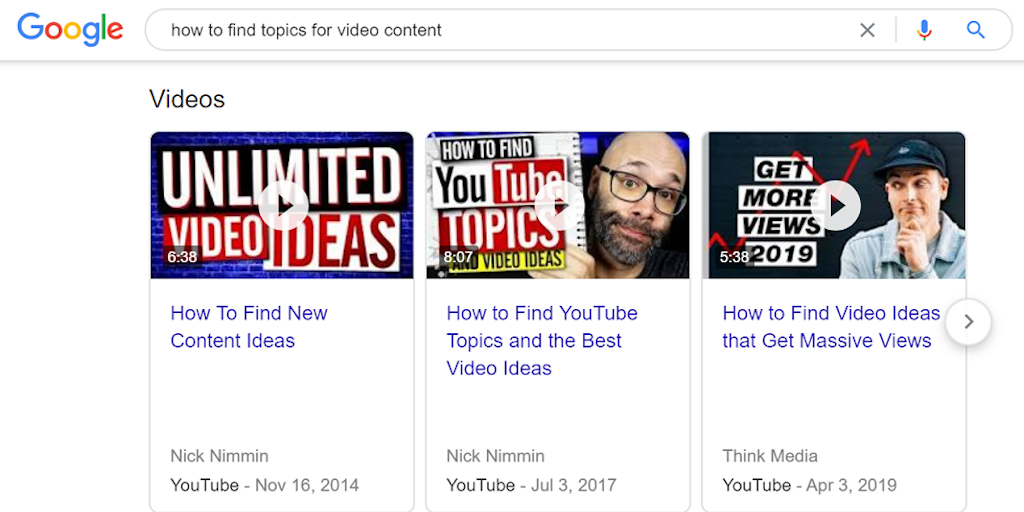 topics for video content