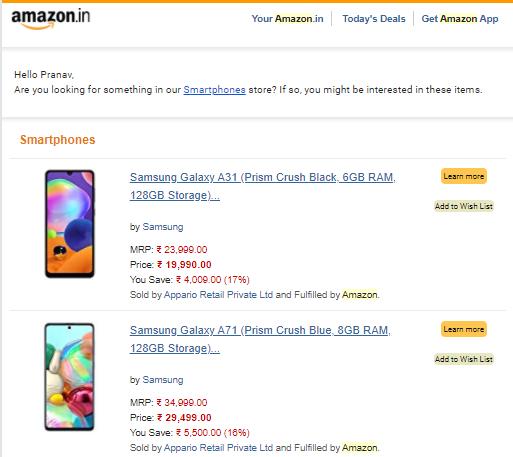 e-commerce price comparison