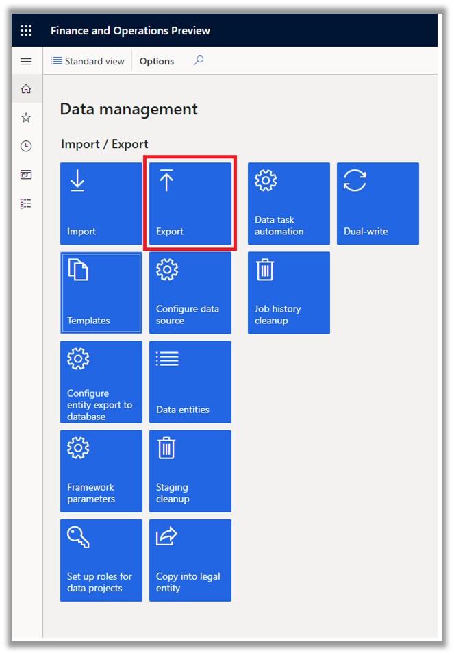 Data Management Export