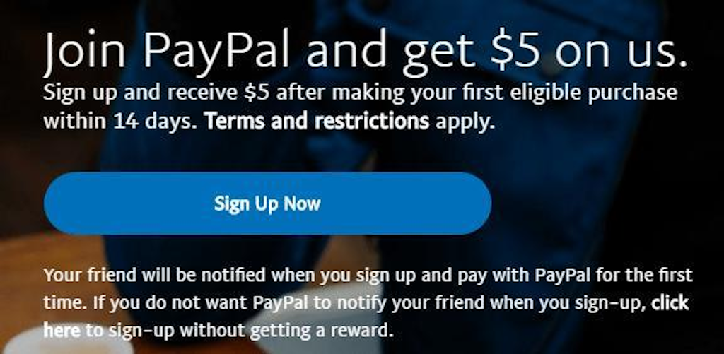 Referral marketing - PayPal