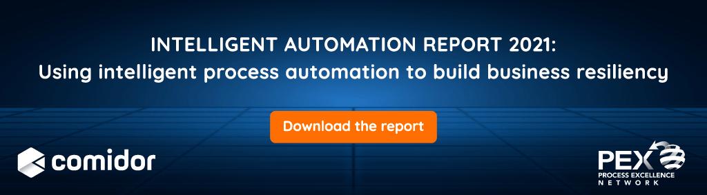 Intelligent Automation Report 2021 banner | Comidor Platform